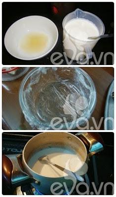 Cách nấu chè khúc bạch Vani - Trà xanh  1