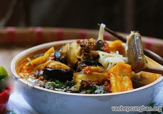 Cách nấu bún ốc chuối đậu ngon tuyệt1