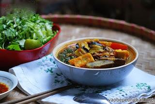 Cách nấu bún ốc chuối đậu ngon tuyệt11