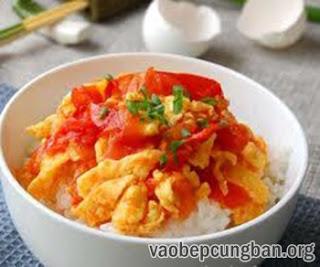 Cách làm trứng chưng cà chua giản dị ngon cơm1